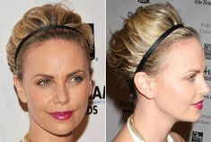 Charlize Theron's Short Hair Updo how-to tutorial.  so-so but it's the best tutorial I've found for this cute look.  I'm wondering how this could be done w/longer hair