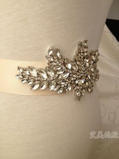 2014 Jenny Packham Free Shipping Real Image Crystal Rhinestone Sparkle Wedding Dress Belts For Women Bridal Accessory $45.00