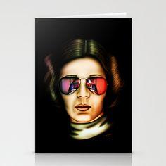 STAR WARS Princess Leia  Stationery Cards by Tom Brodie-Browne - $12.00