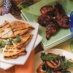 1st Quarter Tailgate: Chicken and Mushroom Quesadillas