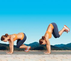 Jillian Michael's 16-min slim down.  1-Minute Moves to Tone All Over (total workout: 16 minutes)
