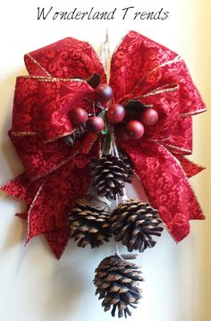 Christmas Christmas door swag Christmas wreath by WonderlandTrends, $8.00