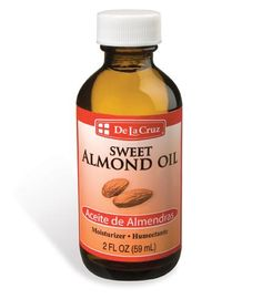 De La Cruz sweet almond oil for your face, body, and hair. I prefer to apply it to the ends of my hair.