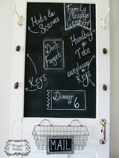 How to Turn an Old Screen Door Into a Family Message Center