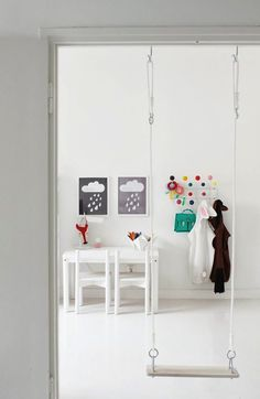Indoor Doorjam Swing (plus MORE ideas for indoor play)