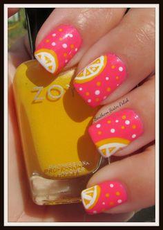 Beautiful! Pink Lemon-aide Mani