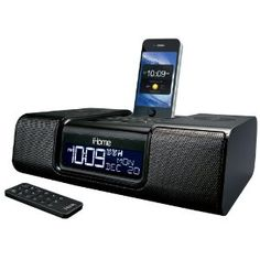 iHome App-Enhanced Dual Alarm Clock Radio for iPhone/iPod with AM/FM presets