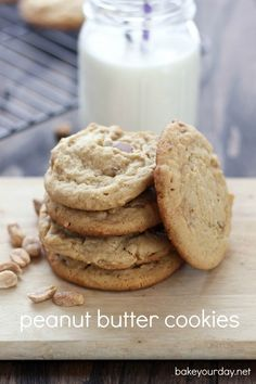 Milk Bar Peanut Butter Cookies from @Cassie Laemmli | Bake Your Day