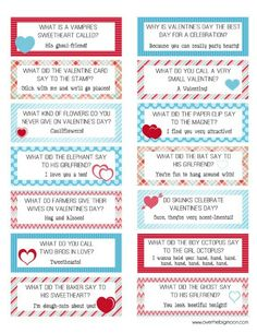 Valentines lunch box printables