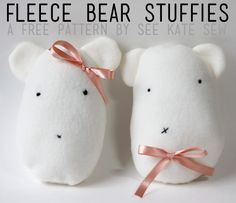 Stitch up this simple little lovie bear from see kate sew