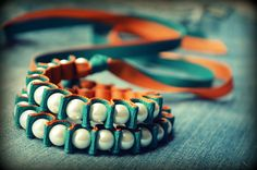 bead and ribbon bracelet