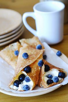 Crepes with ricotta cheese and blueberries by JuliasAlbum.com, via Flickr