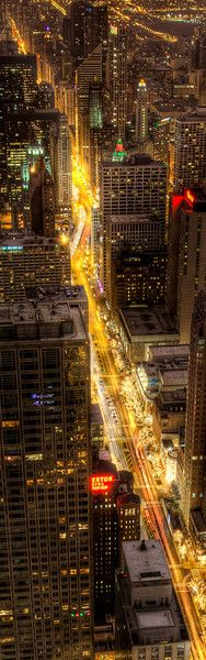 Michigan Avenue Chicago -  by Chris Smith
