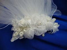 Flower girl headpiece floral comb with veils by Hoalanebridal, $25.00 #weddings #brides #prom