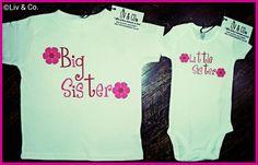 Girl Clothes Matching Sister Shirts Big by LivAndCompanyShop, $30.00