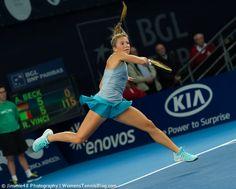 Is it a bird? Is it a plane? It's Annika Beck! #WTA #Luxembourg http://www.womenstennisblog.com/2014/10/15/tough-day-top-seeds-luxembourg-highlights/