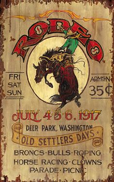 Vintage Signs | Personalizable Rustic Western Rodeo Sign