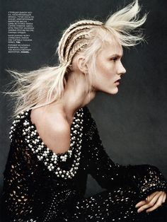 img583 Vogue Russia September 2014 | Harleth Kuusik & Sophie Touchet by Jason Kibbler [Beauty]