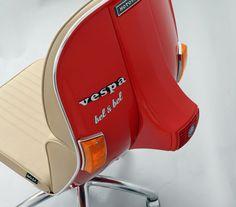 offices, vespas, art, seats, make furniture, office chairs, design, vespa chair, desk chairs