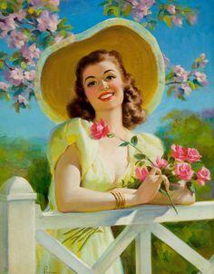 vintage illustrations, pinup girl, art posters, artist, pinup art, vintage ladies, pin up girls, vintag illustr, art frahm