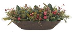 Natural Decorations, Inc. - Rustic Holiday   Antler Apple & Pine   Trough Wooden