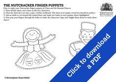Nutcracker Fingerpuppets - Clara and the Russian Dancer.
