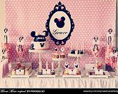 MINNIE Mouse Birthday Party Printable Set - Birthday Invitation, Cupcake Toppers, Favor Tags and more. $25.00, via Etsy.