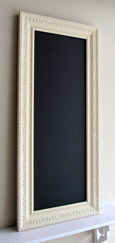 KITCHEN CHALKBOARD for Sale Narrow Home Decor Rectangle Ivory White Bulletin Board Organizer Mud Room MAGNETIC Chalk Board - Ready to Ship