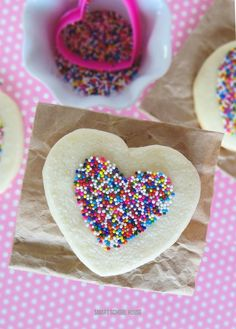 Easy Sugar Cookie Recipe - making sprinkles stick without frosting