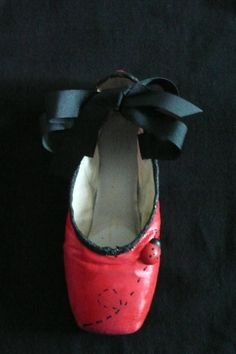Decorative pointe shoe  ladybug by PointePerfection1 on Etsy, $15.99