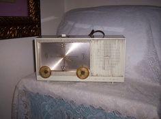 Vintage 1962 Admiral Alarm Clock w/ tube Radio by SusOriginals