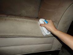 clean microfiber sofa w/ alcohol