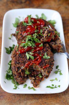 Moist and tender black bean burger patties. #vegetarian #recipe #cooking #easy #healthy #legumes #lowfat  Read more at http://pickledplum.com/black-bean-burger-patties-recipe/