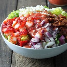 strawberry poppyseed & bacon salad
