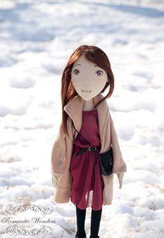 Vicky  textile handmade OOAK doll. Romantic Wonders, via Etsy.