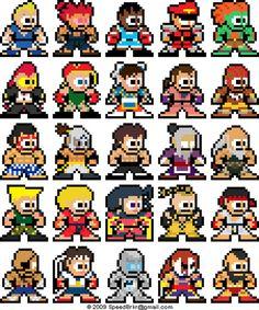 favorit idea, perler street fighter, megaman, bit street, video game, pixel art, design, fighter 8bit, fighter iv