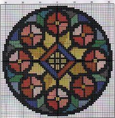 biscornu, bead patterns, crossstitch, cross stitch, perler beads, mandala