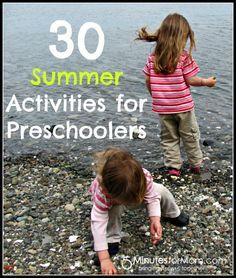 30 Summer Activities for Preschoolers on www.5minutes4mom.com