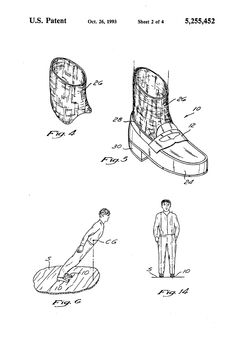 Patent US5255452 - Method and means for creating anti-gravity illusion // Michael J. Jackson et al