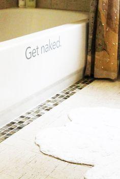 Get Naked Bath Decal   #decal #decals #bath #getnaked #bathroom #tub