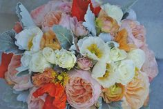 Branches Event Floral Company: Peach Wedding Bouquet