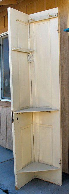 Corner Hat Rack made from a old door