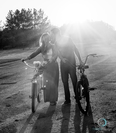Engagement photo inspiration, bring your bikes or beach cruisers to your favorite location to add character. #wedding Photography by @Michelle Foskett Creative
