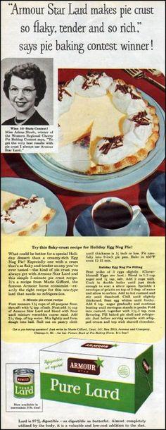 Lard in pie crusts!