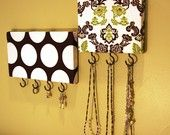 fabric covered jewelry/accessory/key holders