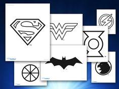 Themed Printables: Justice League Logos | DC Comics