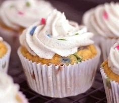 Homemade Funfetti Cupcakes, from scratch! | Finding Vegan submitted by Desserts with Benefits