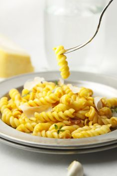 Creamy Carrot and Parm Pasta www.bellalimento.com