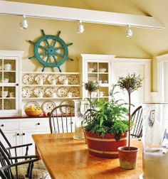 Ship Wheel Decor -A Stylish Spin on the Old Captain's Wheel.