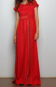 Ace & Jig Studio Dress - Scarlet